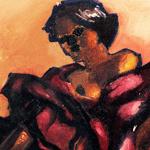 La Muerte, poema de Lirah. Ilustrado com a pinturaCatrina – La Santa de La Muerte de Guilherme Silveira Dias